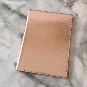 Accessories - Rose Gold Passport Holder